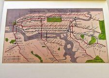 New York City Historic Map Reproduction of IRT SUBWAY LINE 1924 14x11