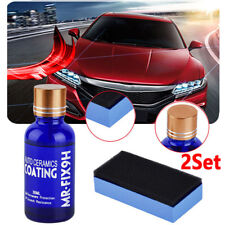 2 X Auto Liquide Céramique Revêtement Hydrophobe Verre Cire Polish Kit Jeu