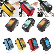 MTB Bicycle Mobile Phone Pouch 5.5 inch Touch Screen Top Frame Tube Storage Bags