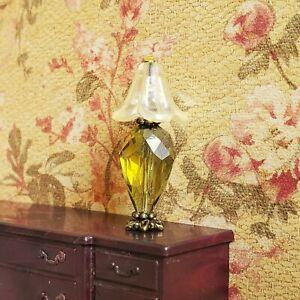 DollHouse Miniature Lamp Mini Crystal Living Room Light 1:24 1/2 Half Inch Scale
