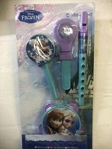 NEW boxed Disney Frozen Music Set recorder, tambourine, clackers, paddle drum
