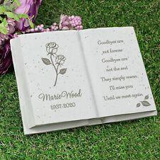 Personalised Rose Memorial Book Memorial Grave Marker Funeral Garden Ornaments