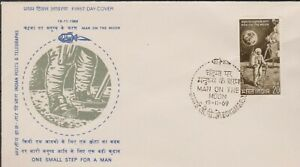 INDIA 1969 First Man on the Moon/Astronaut/Space Module SG 601 FDC