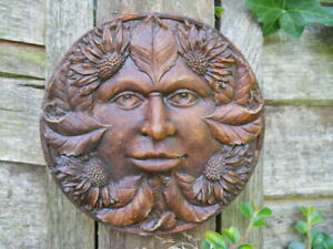 Latex mould of a Green Man wall plaque