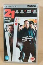 21 UMD Movie for PSP - 2008, FREE same day postage