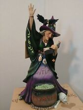 Jim Shore Casting Trouble Polyresin Halloween Scary Witch 6006700