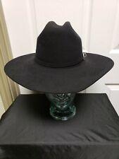 Serratelli 4X Beaver Cowboy Hat 7 Black Hat And Buckle Band Rockabilly Cowboy