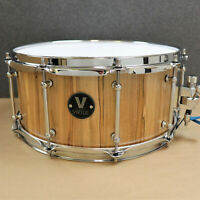 VIRTUE: Honesty 14 x 6.5 Ambrosia Maple Snare Drum Purely-Resonant Solid Stave