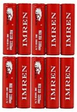 10 Pack IMREN IMR18650 3.7v 38A Li-MN 2600mAh High Drain Rechargeable Batteries