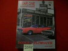 DODGE PLYMOUTH CHRYSLER YEAR ONE RESTORATION PARTS & ACCESSORIES CATALOG 1962-78