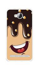 FUNDA de GEL TPU para HUAWEI Y3 II Dibujo HELADO CHOCOLATE