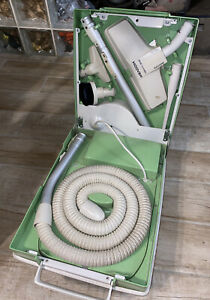 Vintage HOOVER Vacuum Portable Cleaning Center set in case ~ Model S3013