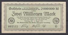 Ratzeburg - Kreis Herzogtum Lauenburg - 2 Million Mark - Buchstabe G
