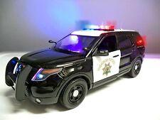 1/18 California Highway Patrol SUV Truck WORKING LIGHTS /SIREN It Die-cast Car