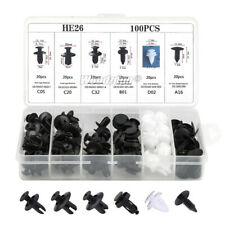 100pcs 6size Clips Fender Liner Blind Rivet Bumper Retainer Push In Fastener Kit (Fits: Mazda 929)