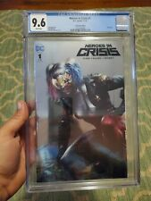 Heroes in Crisis #1 CGC 9.6 WP Mattina Variant NYCC Silver Foil KEY BK DEATH
