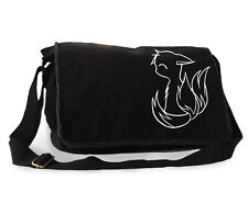 Cute Fox Messenger Bag kawaii anime kitsune college laptop bag canvas vegan