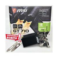 SCHEDA VIDEO MSI NVIDIA GEFORCE GT 710 1GB DDR3 GT710 LOW PROFILE LP SCHEDA GRAF