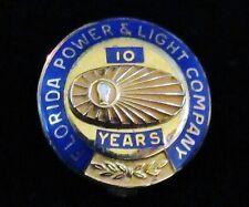 RARE 1956 Florida Power Light Co. FPL 10 YEAR EMPLOYEE AWARD Pin 2.5 gm 10K Gold