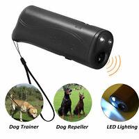 LED Ultrasónico Anti Ladrido de perros Entrenador de mascotas Cazador suave Esti