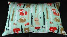 Baby Kissenhülle, Kissenbezug 40x60 cm, Waldtiere, Kinderkissen, Handarbeit