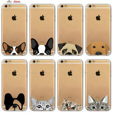 Custodia Cover Design Cane Gatto Per Apple iPhone 4 4s 5 5s 5c 6 6s 7 Plus SE