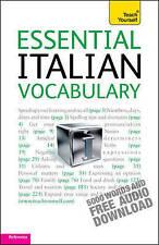 Very Good, Essential Italian Vocabulary: Teach Yourself, Zollo, Mike, Book