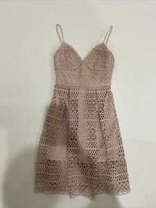 Forever New Pink Midi Dress Size 8