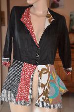 SAVE THE QUEEN - luxueuse et adorable veste été noire TAILLE L - EXCELLENT ÉTAT