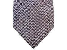 Battisti Tie SALE! Light blue & brown glen plaid, 2-button & pocket, pur