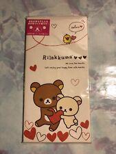 San-x Rilakkuma Heart Envelopes + Stickers