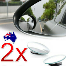 2x Blind Spot Car Mirror Rimless Frameless Glass Wide Angle Convex Mirrors