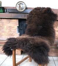 NEU 115cm Braunes Schaffell, Lammfell, sheep skin, Schafsfell öko