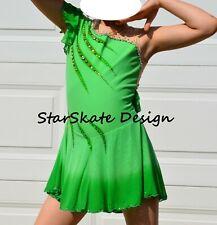 New listing New Green Custom Made Figure Skating Dress