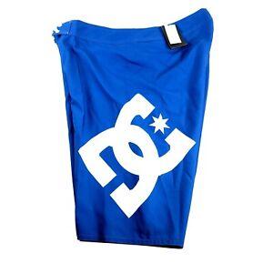 Dc Lanai Mens Shorts Boardshorts Blue Size 34 Swimming Suit