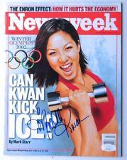 Michelle Kwan Signed Autographed Newsweek Magazine 2002 Olympics JSA HH37501