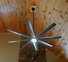 """Outdoor/Indoor 72"""" Large Windmill Ceiling Fan + Remote Nickel LED Light Patio"""