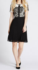 MARKS & SPENCER COLLECTION Lace Pleated Skater Dress BNWT