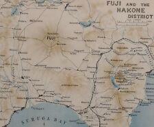 1907 Japón Japonés de Turismo Mapa ~ Fuji & Hakone distrito Odawara Numazu Suruga