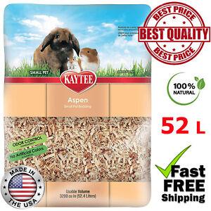 Kayte Natural Aspen Small Pet Bedding Litter Rabbit Guinea Pig Hamster Snake 52L