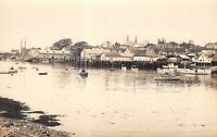 Boothbay Harbor Maine~Waterfront~OJ Marr Clothing~Boots~Boats Docks~1920s RPPC