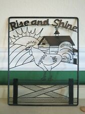 Rooster Barn Farm Metal Wall Art Picture Plaque