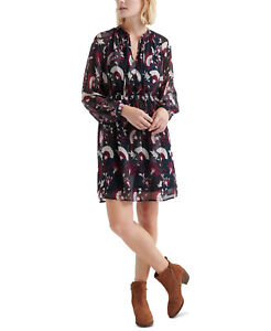 Lucky Brand | Floral-Print Peasant Dress | Blue