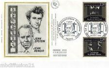 1986**FDC SOIE 1°JOUR!!**CINEMA-J.EPSTEIN ETJ.RENOIR**TIMBRE Y/T 2436-2438