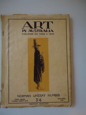 ART IN AUSTRALIA NORMAN LINDSAY NUMBER 3RD SERIES NUMBER THIRTY-FIVE DEC 1930