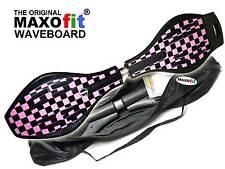 Waveboard für Streetsurfing MAXOfit® XL Pink Lady bis 95 kg, mit Leuchtrollen