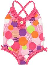 NEW Le Top Toddler Girl Pink Razzle Dazzle Dot Swimsuit Size 2T NWT