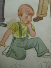 Vintage 40s Simplicity 2217 LUMBER JACKET & SUSPENDER PANTS Sewing Pattern Boy