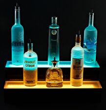 "Armana Acrylic NEW 2 step Two Tier 24"" 2' LED Liquor Bottle Display Shelf Bar"
