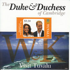 Tuvalu 2012 Mnh Duke & Duquesa De Cambridge visita 1v Hoja Kate Prince William